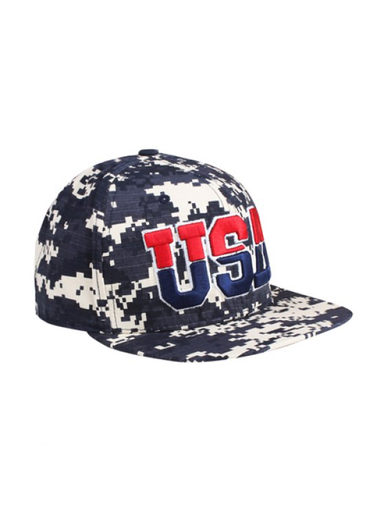 online Embroidery Camouflage Pattern Baseball Cap - BLACK