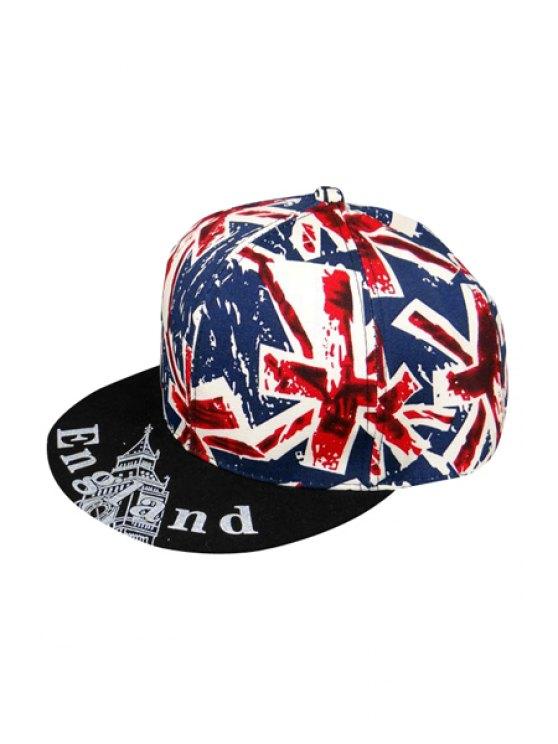 outfit Union Flag Pattern Baseball Cap - BLUE