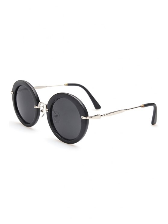 affordable Full Frame Round Sunglasses - SILVER