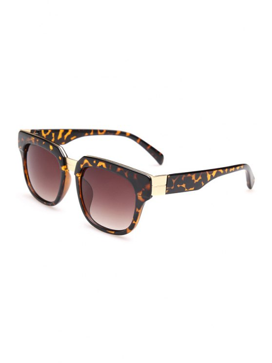 hot Leopard Pattern Full Frame Sunglasses - DEEP BROWN