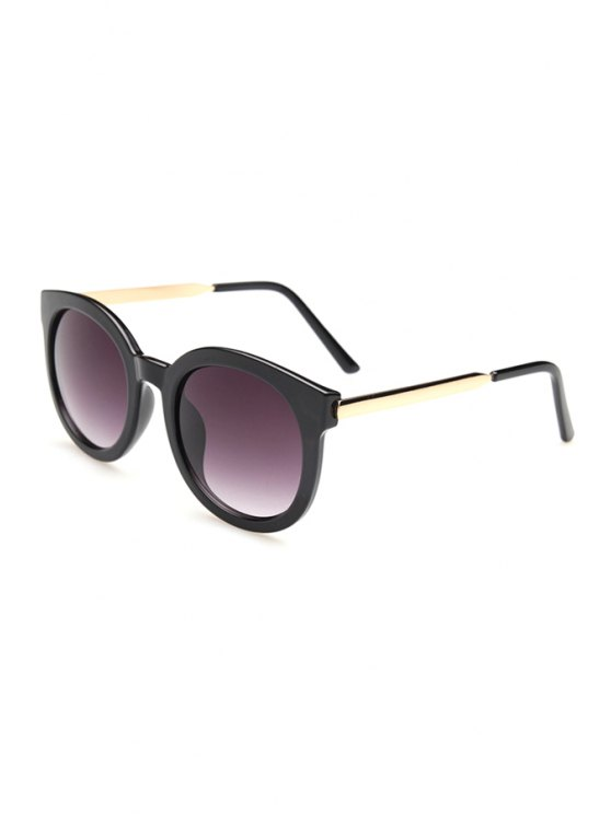 chic Alloy Splice Full Frame Sunglasses - BLACK