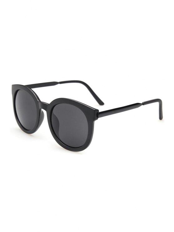 Alloy Splice Solid Color Sunglasses - Negro