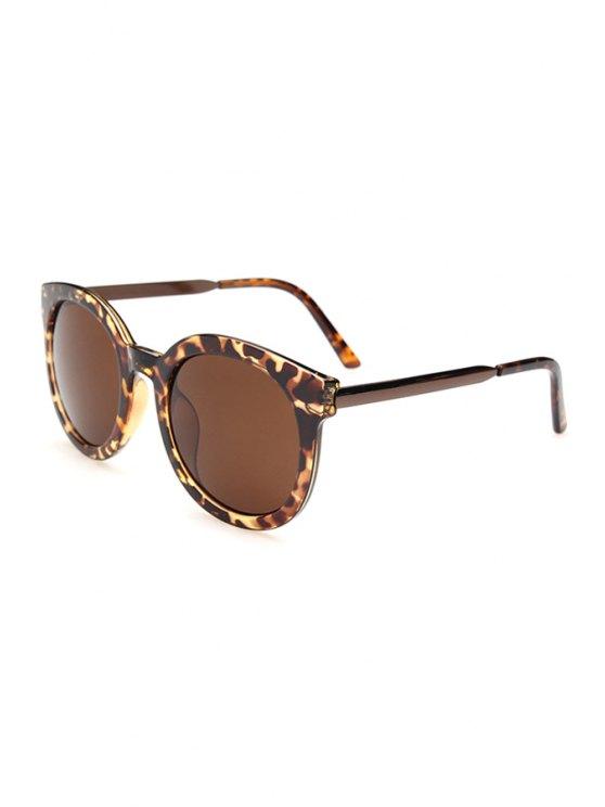 Aleación de empalme Leopard Sunglasses - Marrón