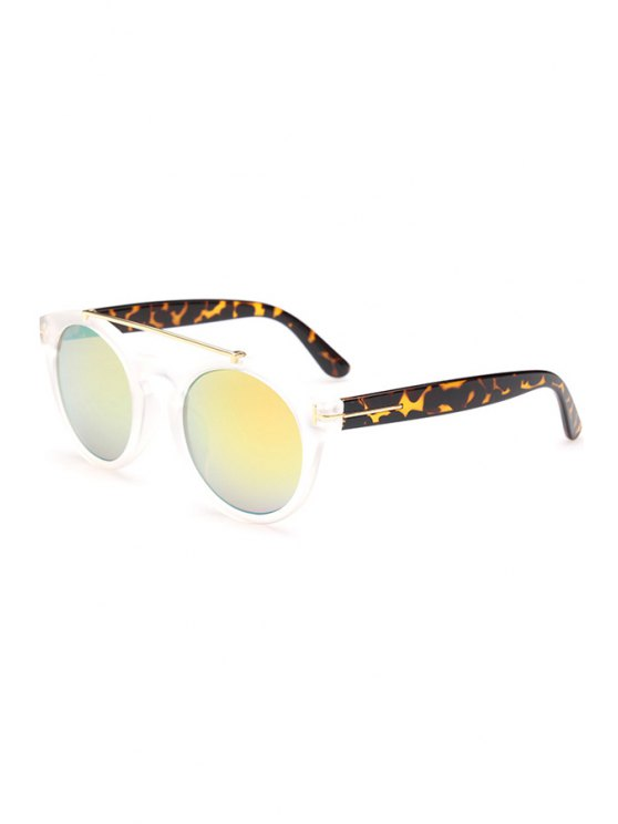 Transparent Splice Leopard Sunglasses - TRANSPARENT  Mobile