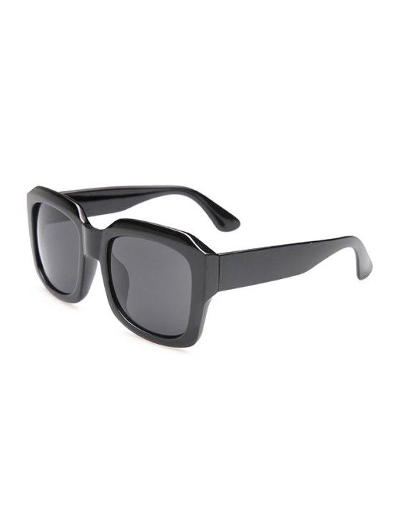 fashion Solid Color Frame Sunglasses - BLACK