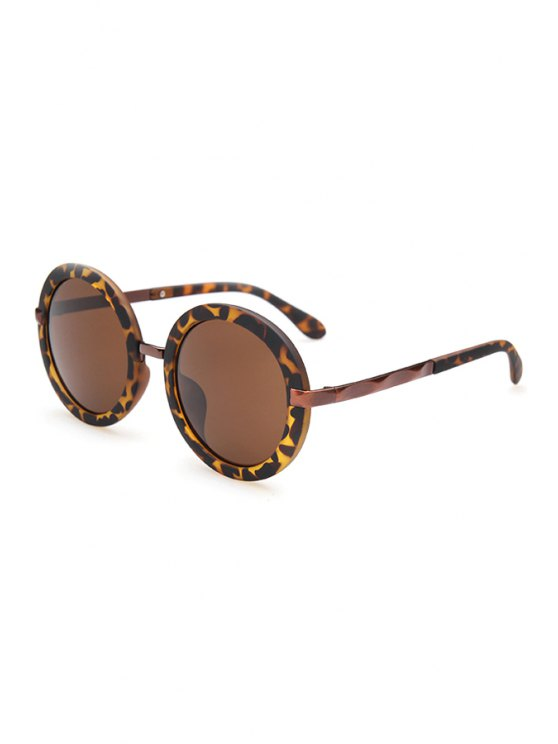 Unsmooth Alloy Splice Leopard Sunglasses - Marrón Oscuro