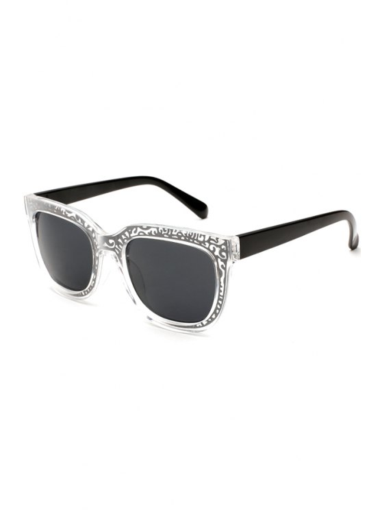 outfits Hollow Out Alloy Embellished Sunglasses - BLACK