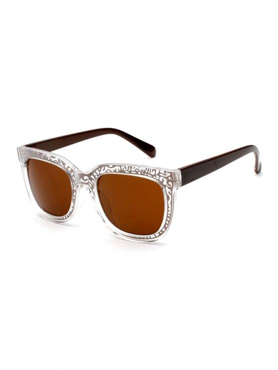 latest Tea-Colored Lenses Sunglasses - BROWN