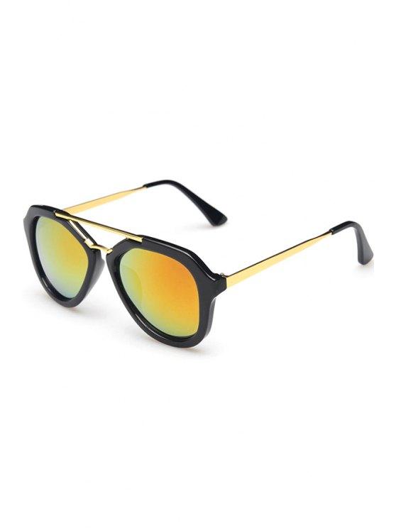 sale Alloy Photochromic Lenses Sunglasses - ORANGE