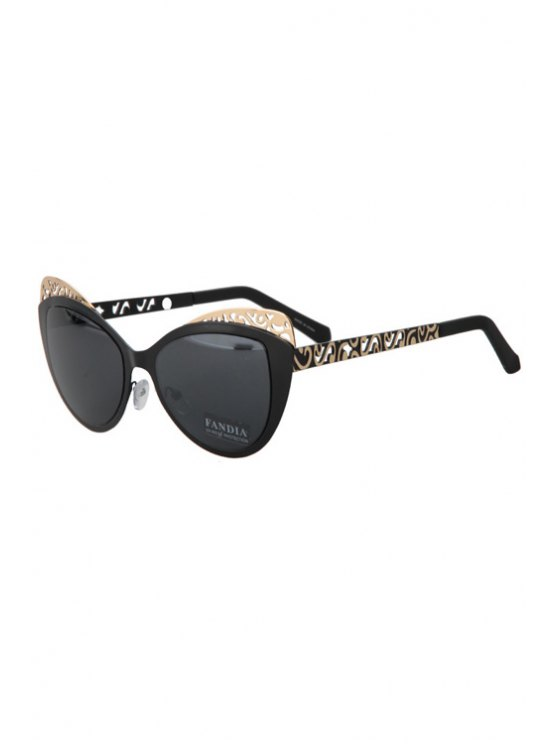 Butterfly Shape Color Block Frame Sunglasses - BLACK  Mobile
