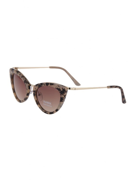 hot Butterfly Wings Shape Dappled Frame Sunglasses - AS THE PICTURE