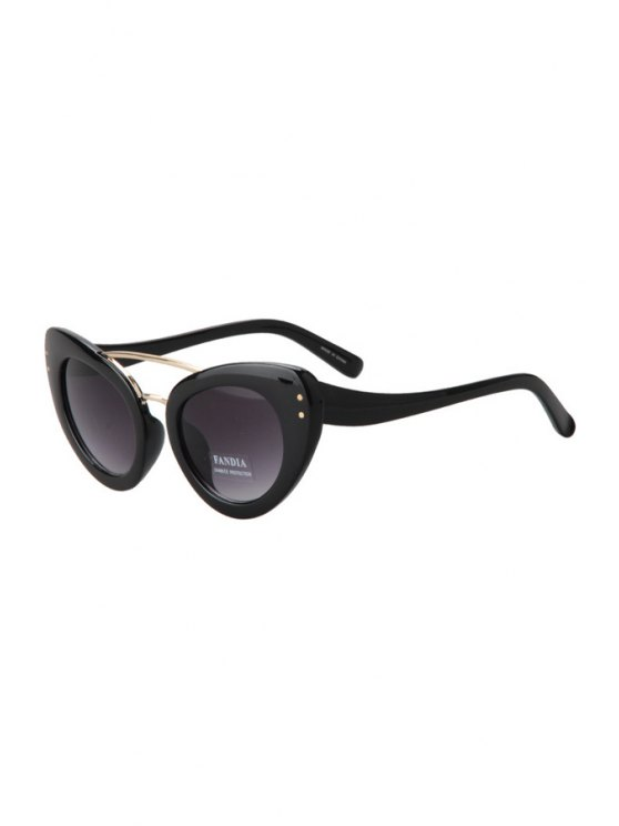 latest Solid Color Butterfly Wings Shape Sunglasses - BLACK