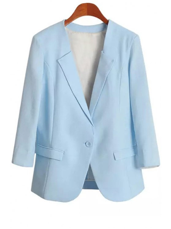 affordable Blue One Button Blazer - BLUE S