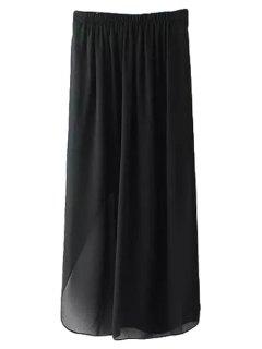 Black Side Slit Skirt - Black S