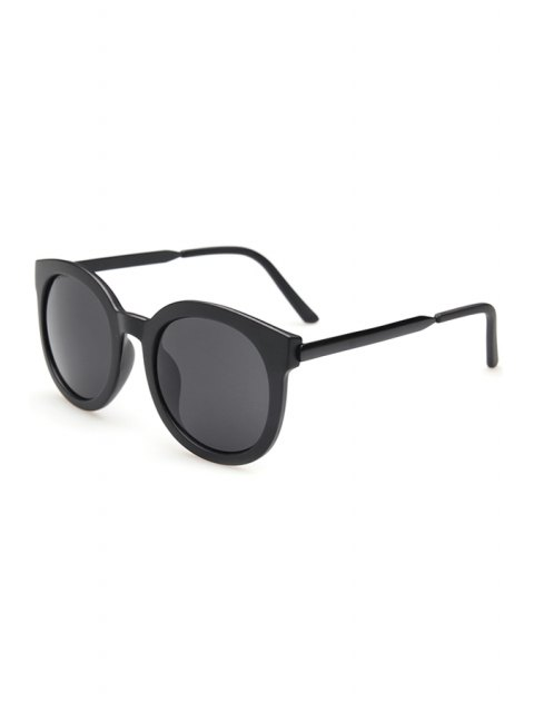 affordable Alloy Splice Solid Color Sunglasses - BLACK  Mobile
