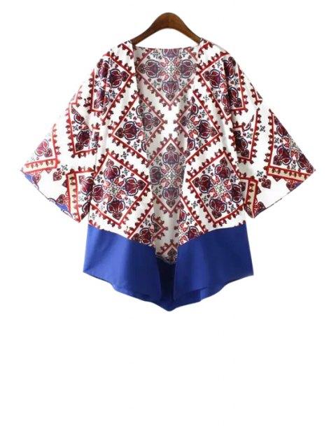 Kimono à manches longues - Blanc M Mobile