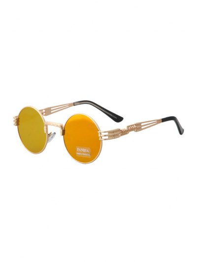 Alloy Round Frame Sunglasses - Jacinth