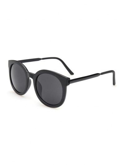 Alloy Splice Solid Color Sunglasses - Black