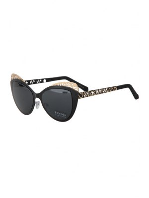 Butterfly Shape Color Block Frame Sunglasses - Black