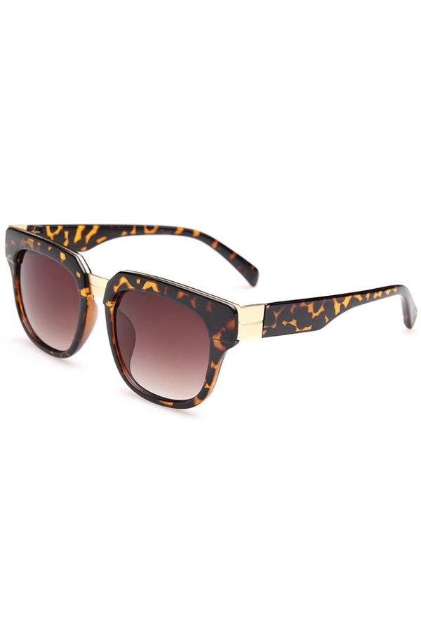 Leopard Pattern Full Frame Sunglasses