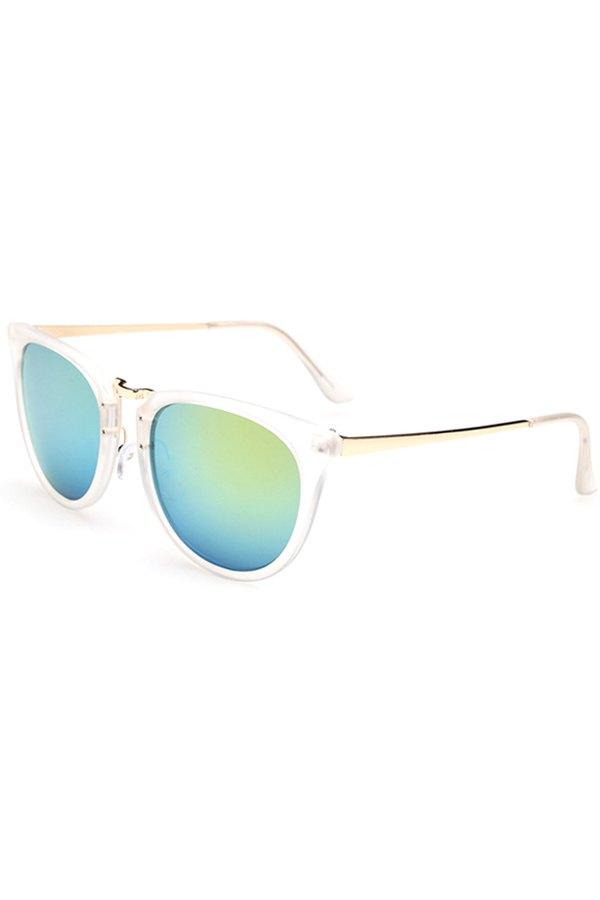 Alloy Splice Transparent Frame Sunglasses