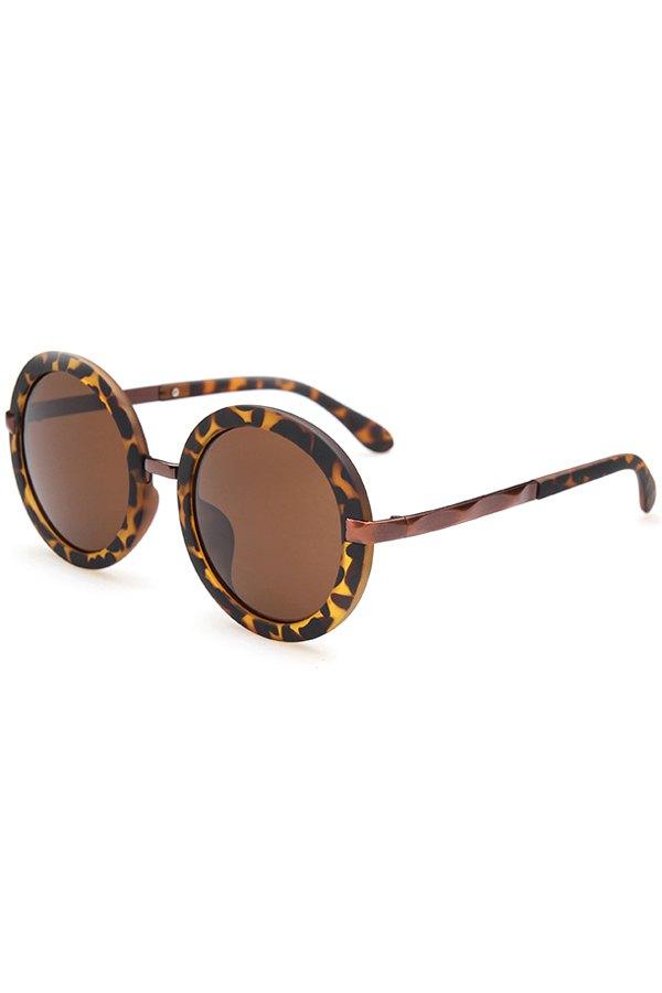 Unsmooth Alloy Splice Leopard Sunglasses