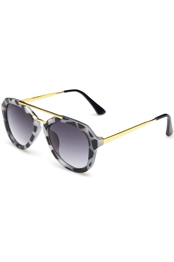 Alloy Dappled Frame Sunglasses