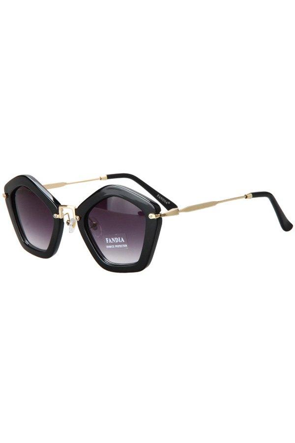 Pentagonal Frame Sunglasses