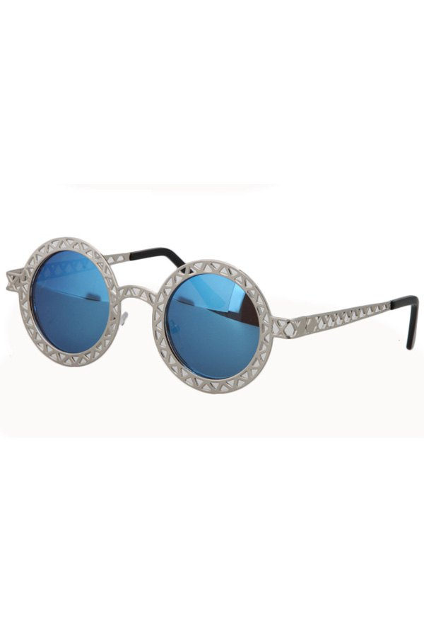Hollow Out Zig Zag Alloy Sunglasses