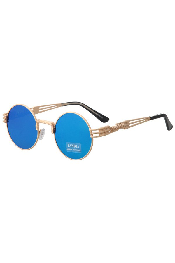 Alloy Round Frame Sunglasses