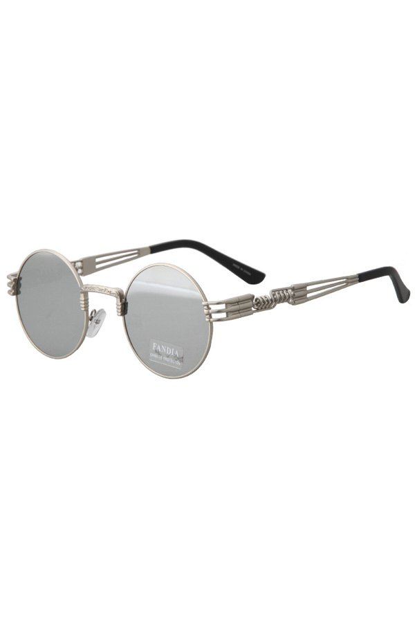 Alloy Round Silver Frame Sunglasses For Women
