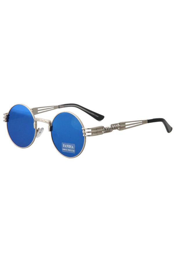 Alloy Round Silver Frame Sunglasses