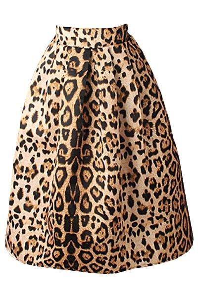 leopard print high waisted a line skirt leopard skirts