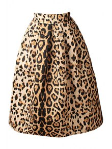 Leopard Print High Waisted A-Line Skirt LEOPARD: Skirts | ZAFUL