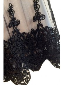 Black Lace Embroidery Sleeveless Tank Top