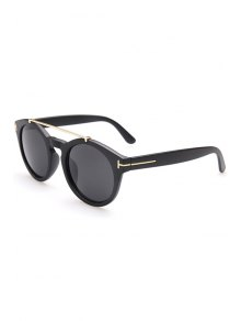 Alloy Embellished Matte Black Sunglasses