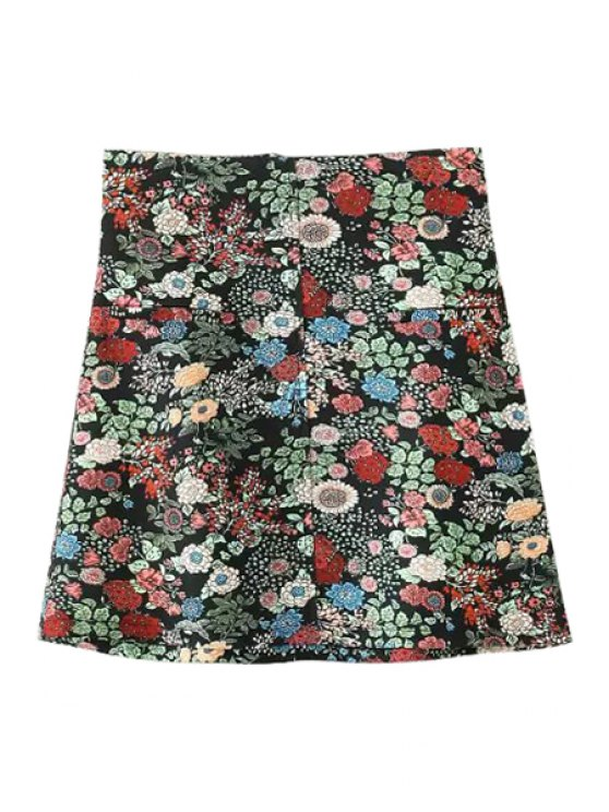 outfit Tiny Floral A Line Skirt - AS THE PICTURE S