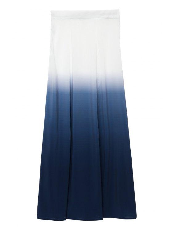 women Ombre Long Skirt - WHITE S