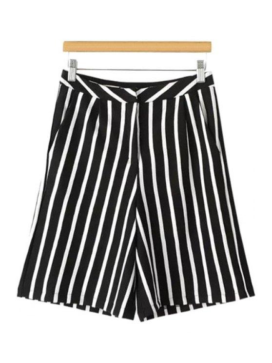 outfits Stripes Wide Leg Fifth Pants - STRIPE S