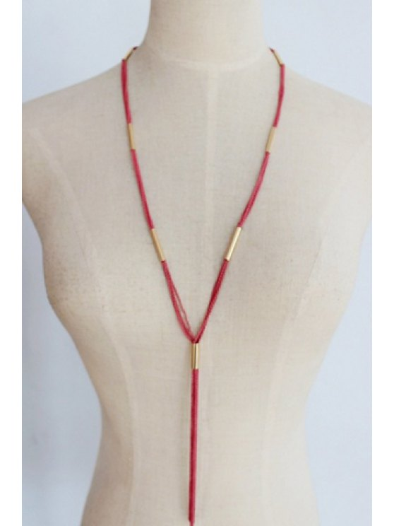 ladies Simple Rope Tassel Sweater Chain Necklace For Women - COLOR ASSORTED
