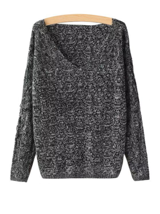 outfit Openwork Loose Fitting Long Sleeve Sweater - DEEP GRAY ONE SIZE(FIT SIZE XS TO M)