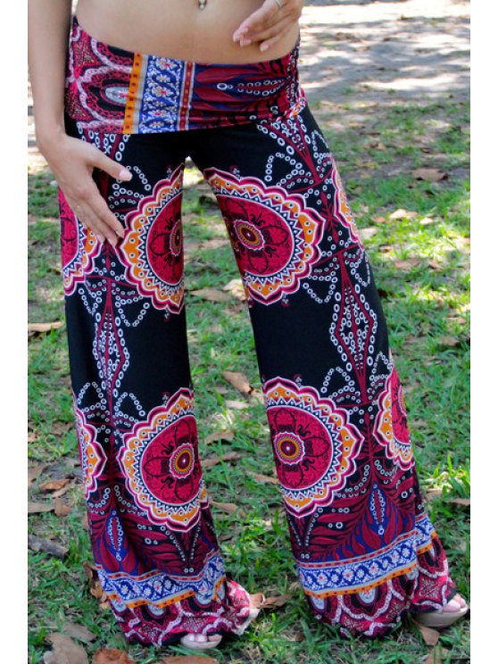 new Vintage Print Elastic Waisted Exumas Pants - COLORMIX S