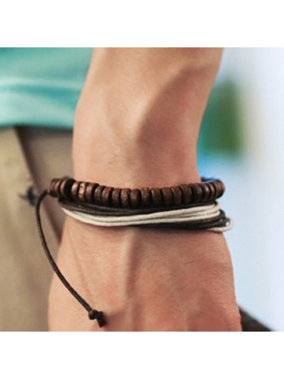 new Casual Layered Chain Bracelet For Men - WHITE