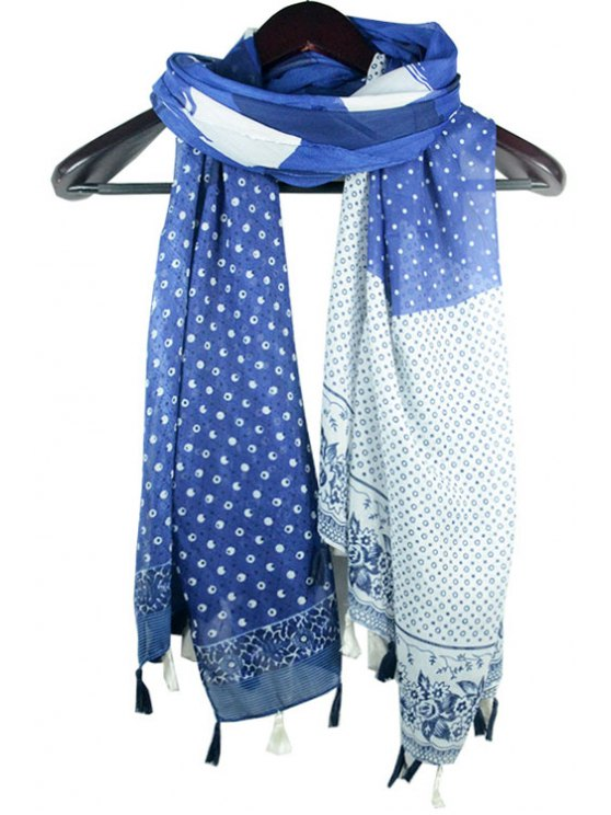 best Polka Dot Tassel Scarf - AS THE PICTURE