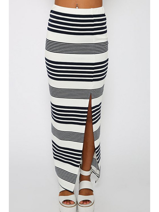 best Stripes High Waisted Skirt - STRIPE S