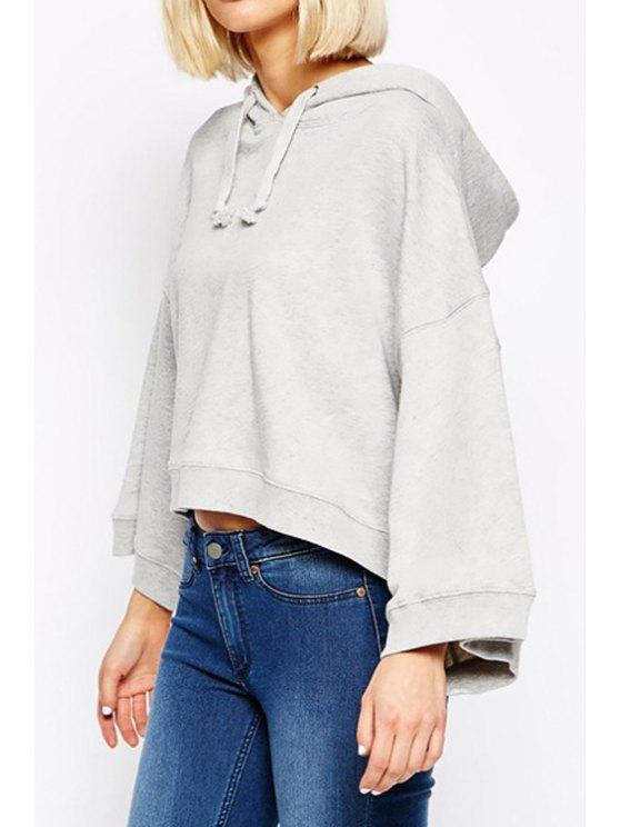 shops Gray Hooded Long Sleeve Hoodie - GRAY S