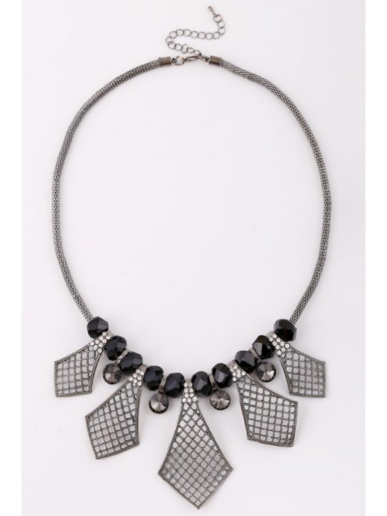 outfits Geometric Rhinestone Necklace For Women - SILVER