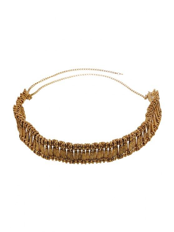 sale Printed Metal Waist Chain - GOLDEN
