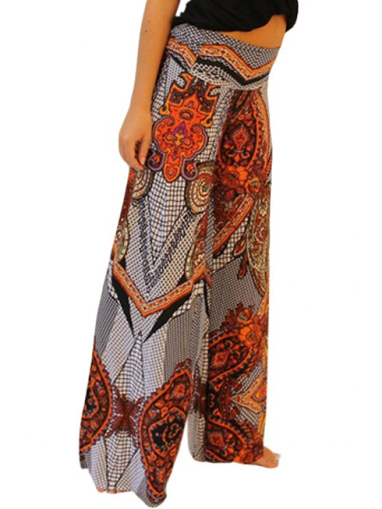 buy Paisley Print Wide Leg Colored Exumas Pants - JACINTH S