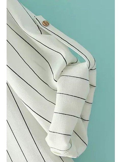 Chemise à manches longues rayées à col en V - Noir M Mobile